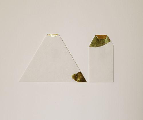 the golden set - handmade envelopes -  by furze chan