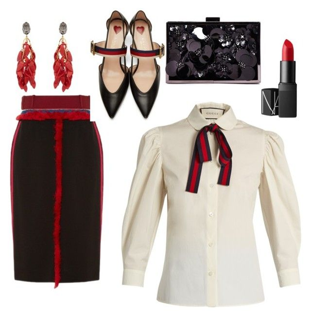 office by annajo-i on Polyvore featuring polyvore fashion style Gucci Altuzarra Boohoo Marni NARS Cosmetics clothing