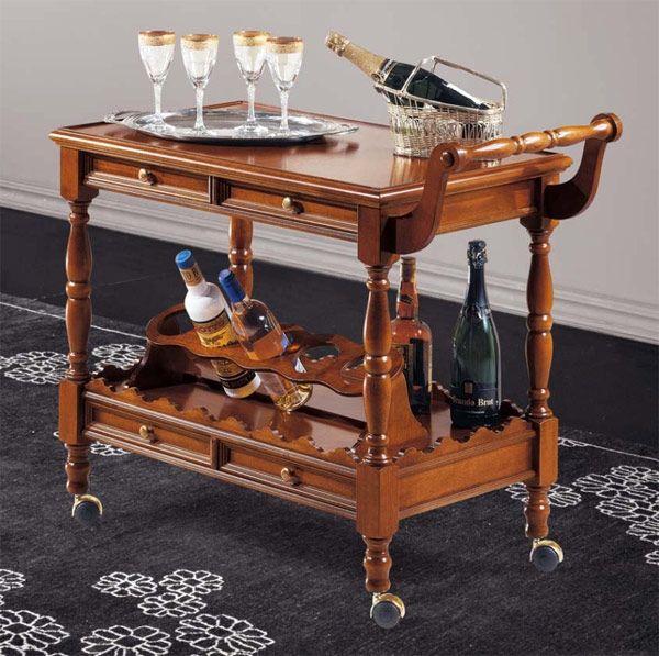 Сервировочный столик на колесах Modenese Gastone 8236