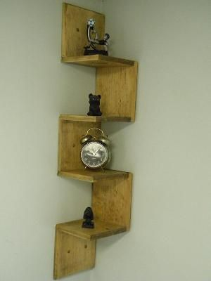 Build a corner wall shelf woodworking projects plans for Easy way to make shelves