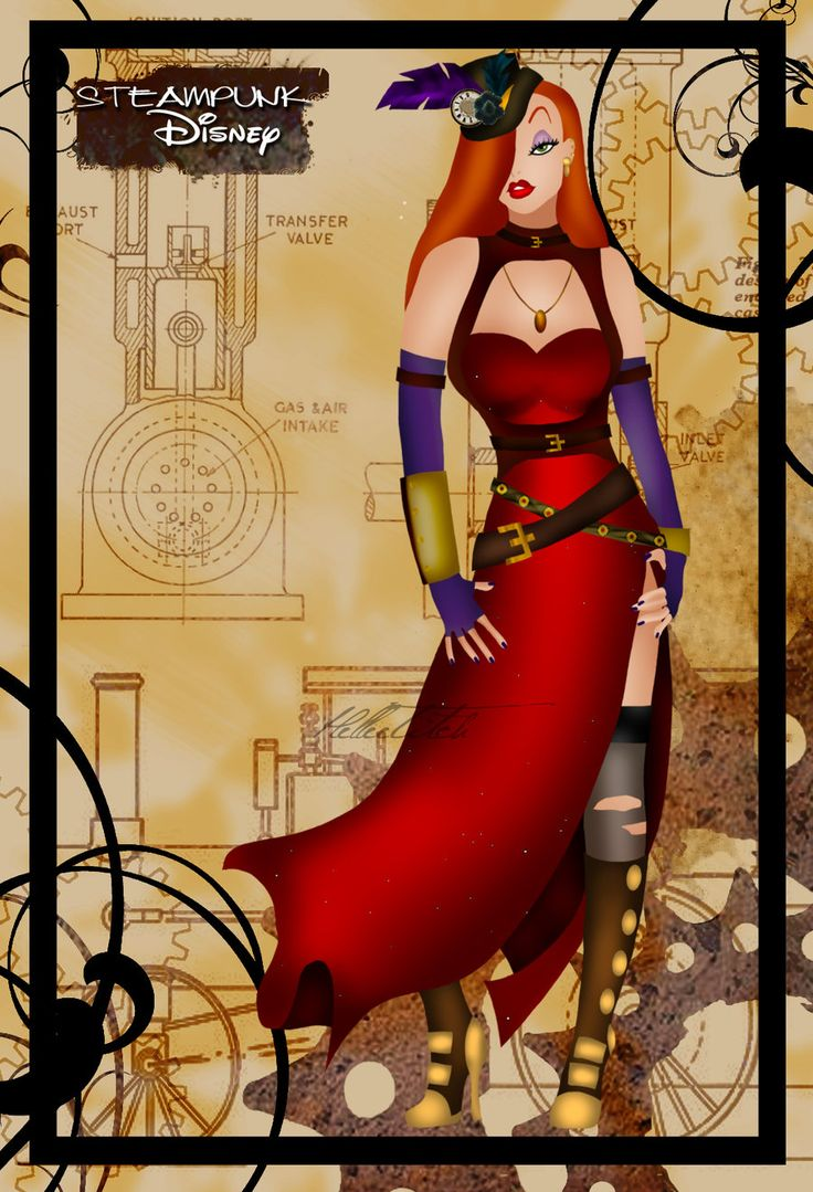 Jessica Rabbit (Steampunk Disney by HelleeTitch)