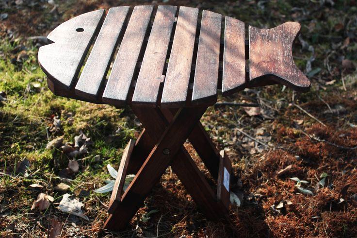 Silla forma pez plegable - madera oscura | AW Regalos