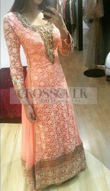 Peach Pakistani style suit