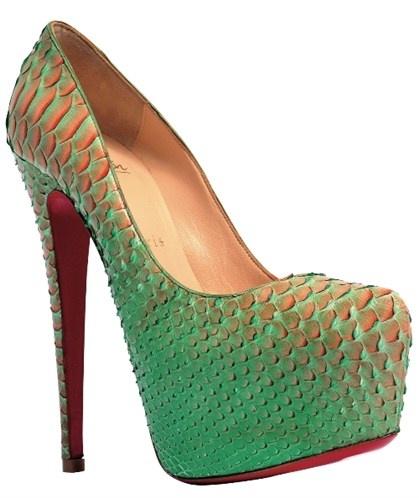 Python-skin heel, Christian Louboutin S/S 2012