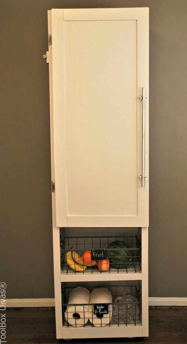 Kitchen Pantry Diy Projects: Mobile Pantry Cabinet By Toolbox Divas