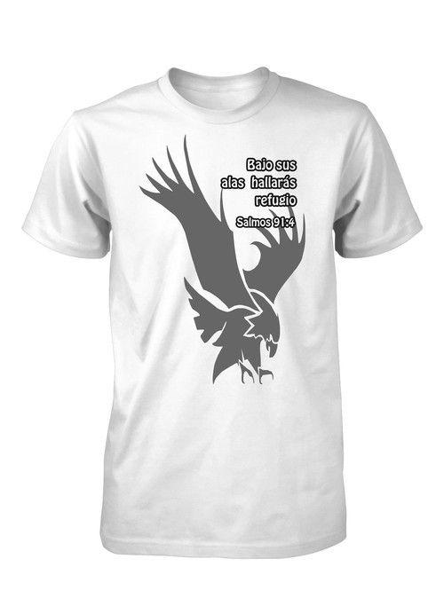 Cobertura de Dios Salmos Versiculo Biblia Camiseta Cristiana