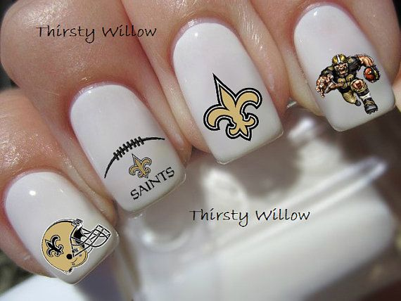 Hey, I found this really awesome Etsy listing at https://www.etsy.com/listing/198079803/new-orleans-saints-nail-decals