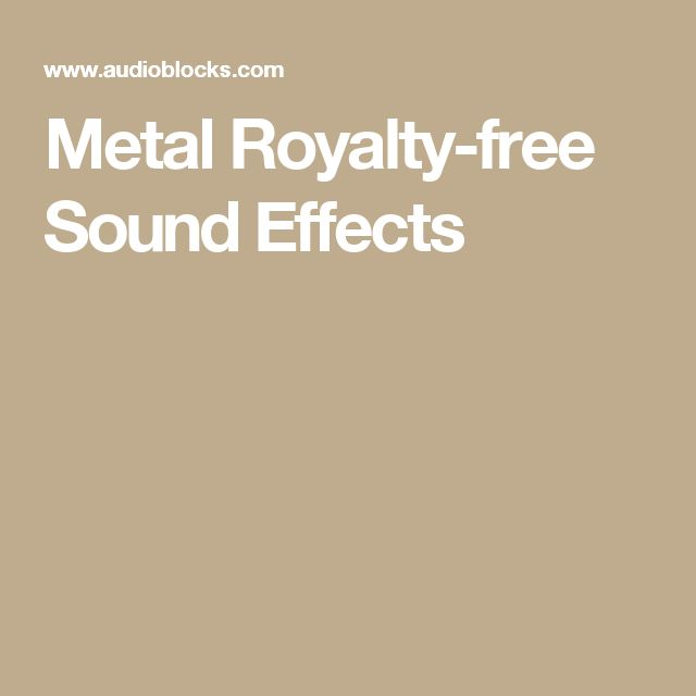 Metal Royalty-free Sound Effects