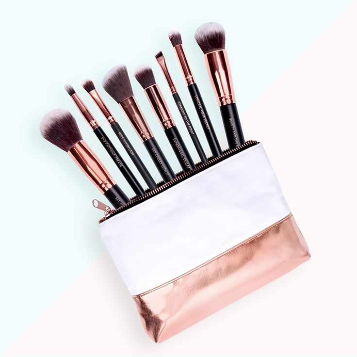 M.O.T.D Cosmetics - Lux Vegan Makeup Brush Essentials - $75 | The classy collection includes your eight essential everyday cruelty free brushes that will help you create any look you want.