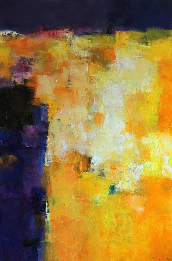 October 2014 3 Original Abstract Oil by hiroshimatsumoto on Etsy