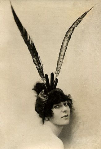 Birdie Courtenay, Feathered Headdress 1918