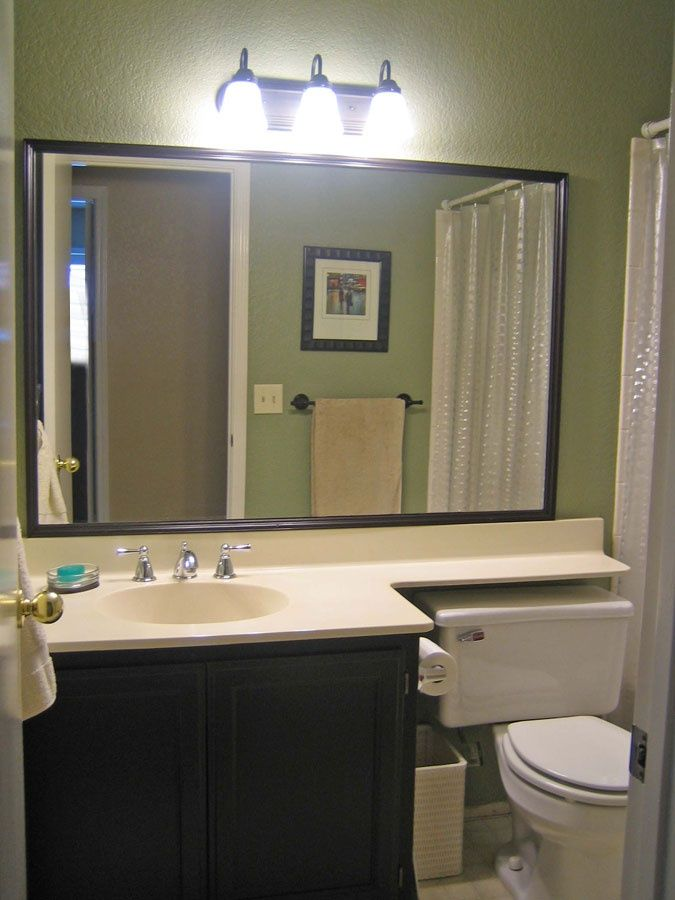 Molded vanity sink with hinged shelf over toilet google - How to decorate a bathroom counter ...