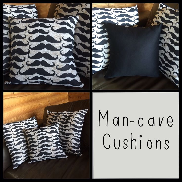 Man cave cushions for Movember