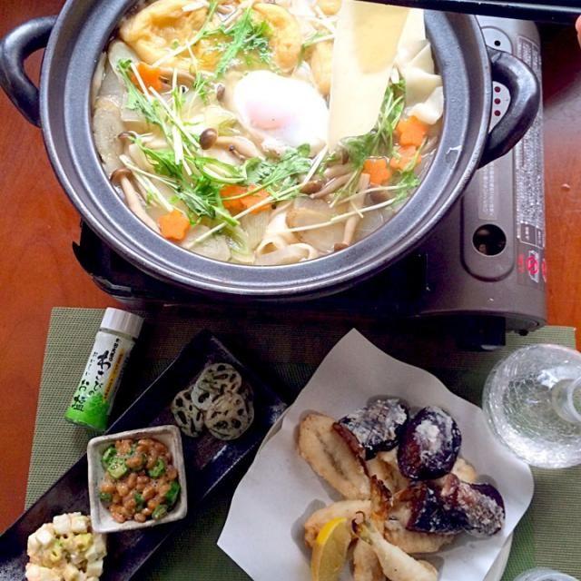 温まりました♨️ - 63件のもぐもぐ - Today's Dinner前菜・フグと茄子の竜田揚げ・煮込みひもかわうどん by Ami