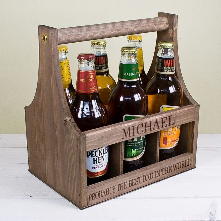 Personalise this handmade Garden Beer Trug Made from sustainable pine wood this Beer Trug is a great gift for him Perfect for Father s Day fill with