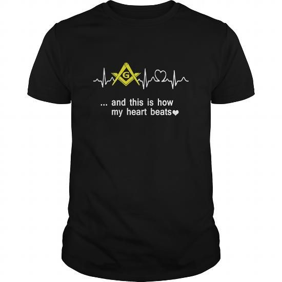 Freemason Heart Beats LIMITED TIME ONLY. ORDER NOW if you like, Item Not Sold Anywhere Else. Amazing for you or gift for your family members and your friends. Thank you! #BEATS #Shirts