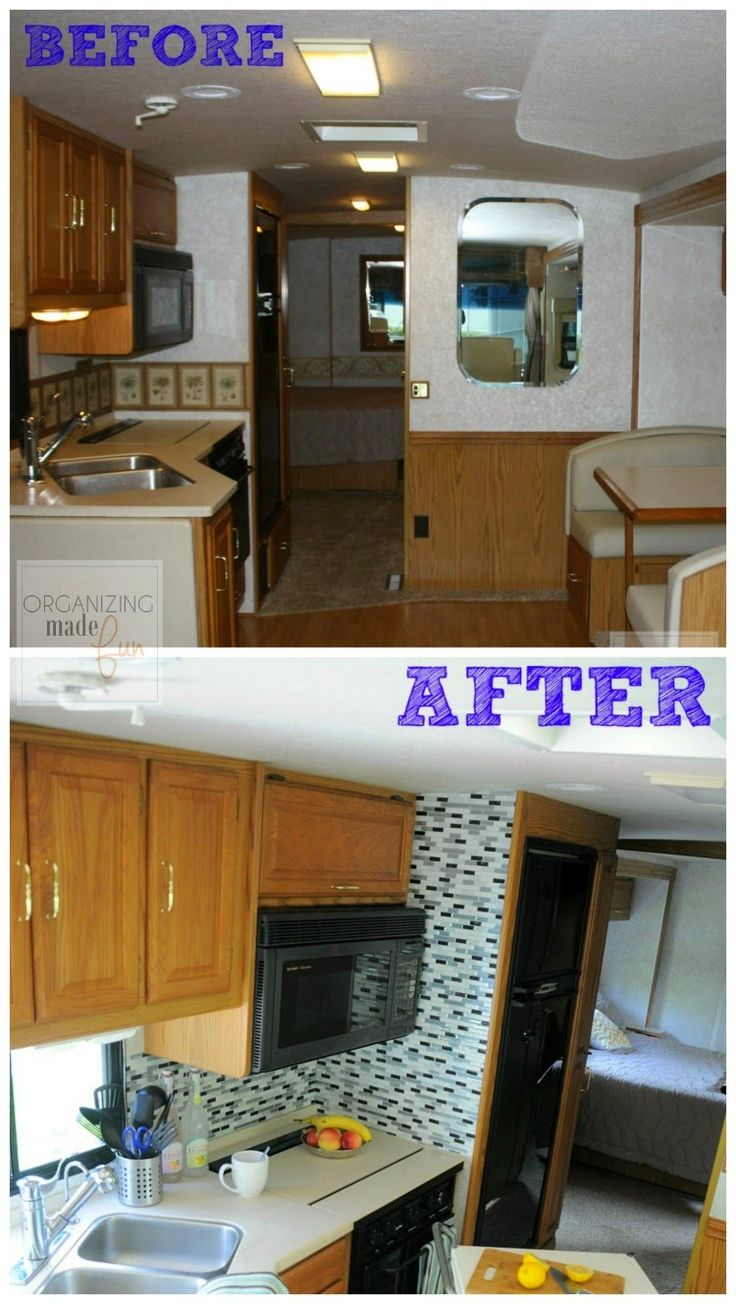 Rv: Before And After Of RV Kitchen Update :: OrganizingMadeFun
