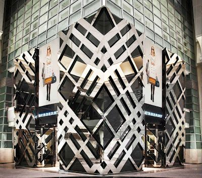 Burberry store in Taiwan   it's the larges Burberry store in the world!