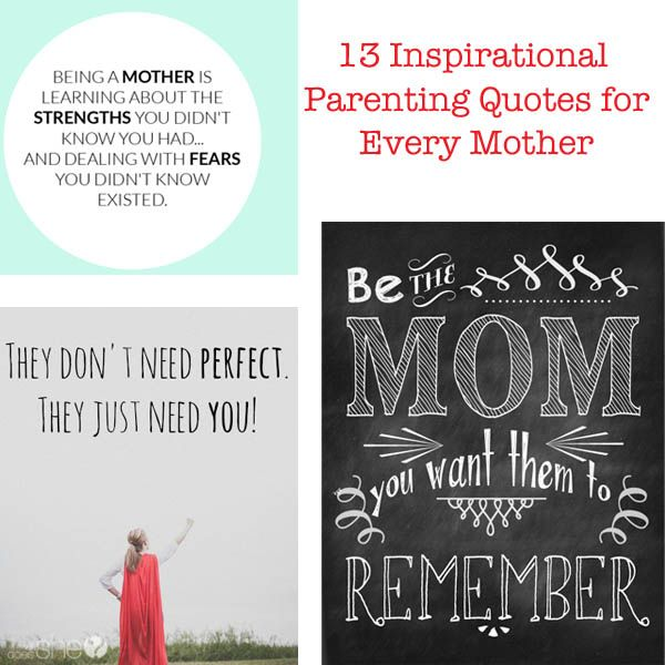 Mother To Son Quotes And Sayings: 17 Best Inspirational Parenting Quotes On Pinterest