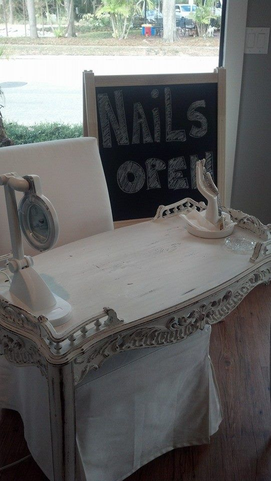 Manicure Table at Nail Boutique.