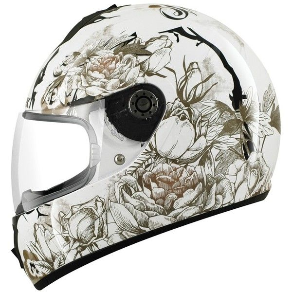 2013 SHARK S600 SEASON LADIES WOMENS MOTORCYCLE FULL FACE HELMET... ❤ liked on Polyvore featuring accessories, helmet and transport