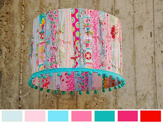 Designer Lamp Shade Decorative Home by GreenQueenEcoDesign on Etsy, $80.00