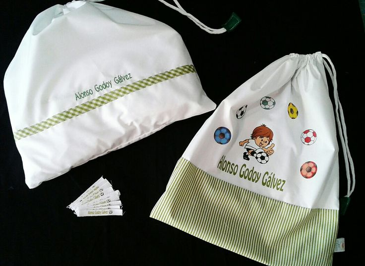 #Bolsa de #tela y #sabanitas para jardin infantil