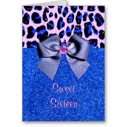 Sweet Sixteen Glitter Card by elenaind #Zazzle