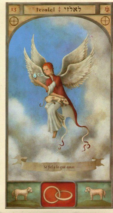 (13) IEZALEL (Kabbalistic angel) protects those born 21 - 25 May, widens the circle of friends.. (ángel Cabalístico) protege aquellos nacidos 21 - 25 mayo, amplía el círculo de amistades.