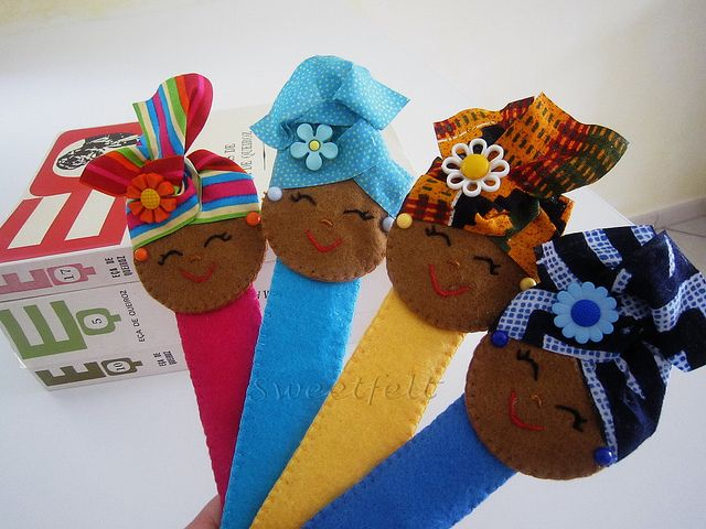 ♥♥♥ Marcadores Afrikanoskas... by sweetfelt  ideias em feltro, via Flickr