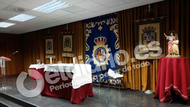 La Policía convierte el salón de actos de la Jefatura de Sevilla en una capilla