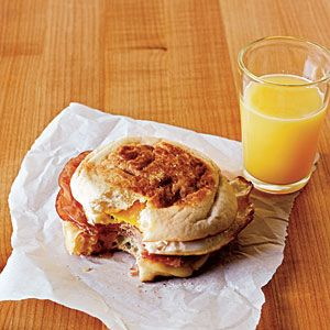 Tonight's quick and easy dinner ;)  Superfast Kid-Friendly Recipes | Ham and Swiss Egg Sandwiches | CookingLight.com