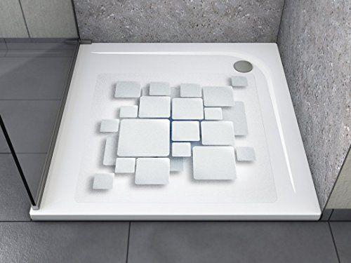 """Anti-Rutsch Aufkleber """"Kacheln (quadratisch)"""" Antibakteriell, selbstklebend, leicht zu installieren und rückstandslos entfernbar. Ersetzt herkömmliche, schmutz-ansetzende Duschmatten. Für Badewanne und Dusche."""