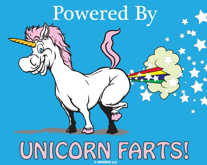 unicorn farting glitter