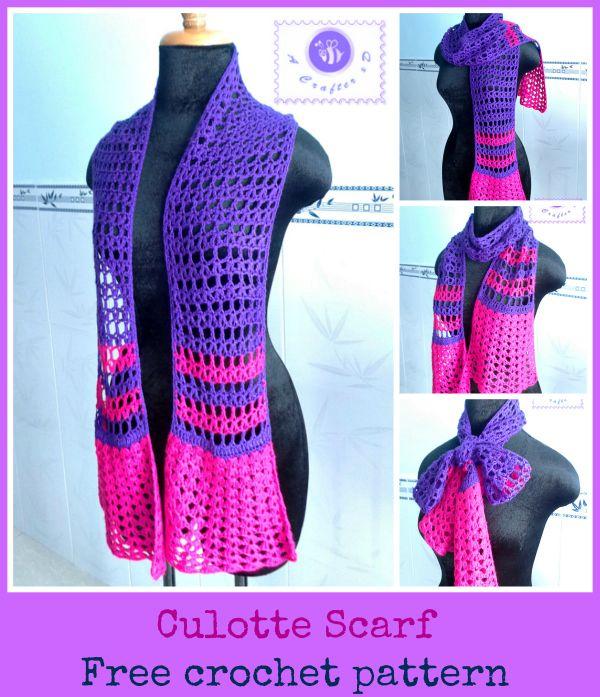 Crochet culotte scarf - Maz Kwok's Designs