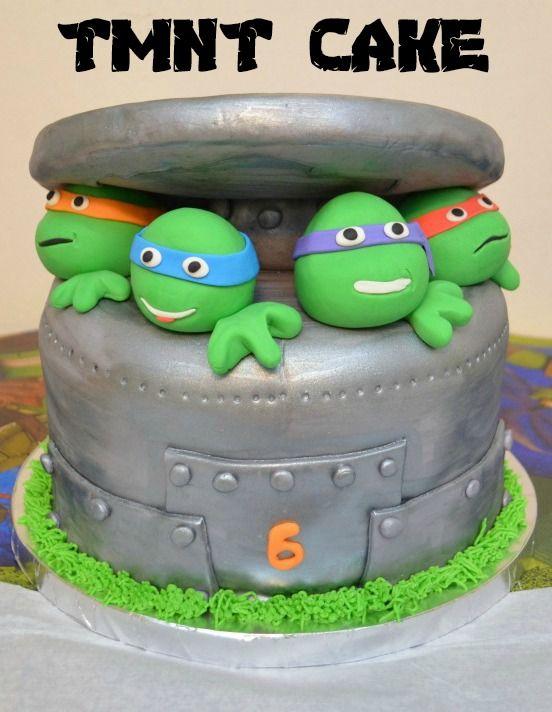 #TMNT Teenage Mutant Ninja Turtles Cake