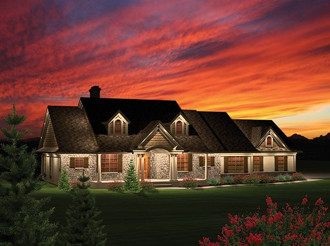 Ranch House Plan with 2016 Square Feet and 3 Bedrooms from Dream Home Source   House Plan Code DHSW076027