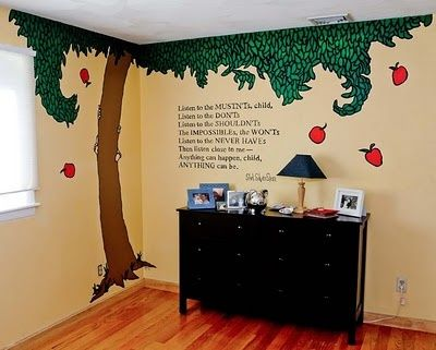 Shel Silverstein Giving Tree wall art