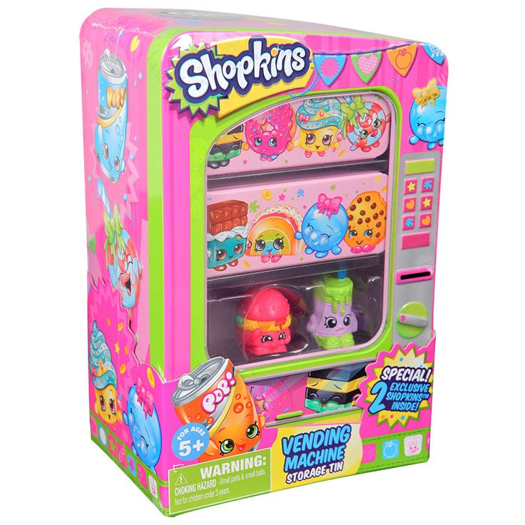 Shopkins Vending Machine Storage Tin | ToysRUs Australia