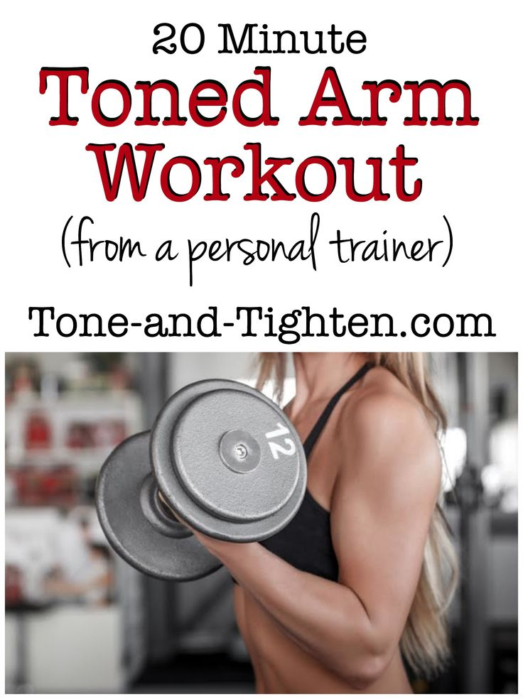 20 Minute Toned Arm Workout on Tone-and-Tighten- this link gets you to a bunch of different low-impact workouts