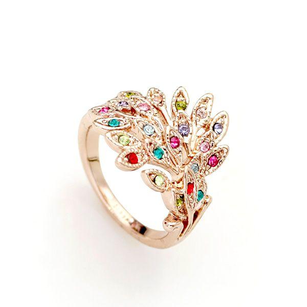Лучшие продажи ювелирных изделий Позолоченный Разноцветные Кольца Для Девочек Подарки