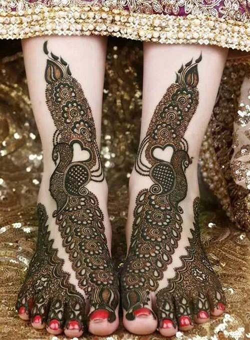 Feet Designs Of Mehndi