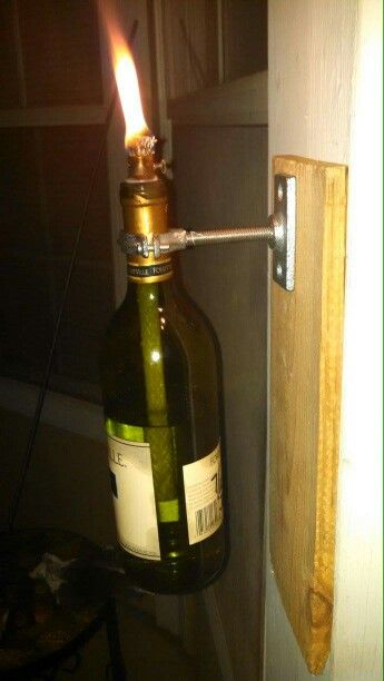 Wine bottle tiki torches #handmade #wine #bottles #candles #rustic #industrial #upcycle #recycle