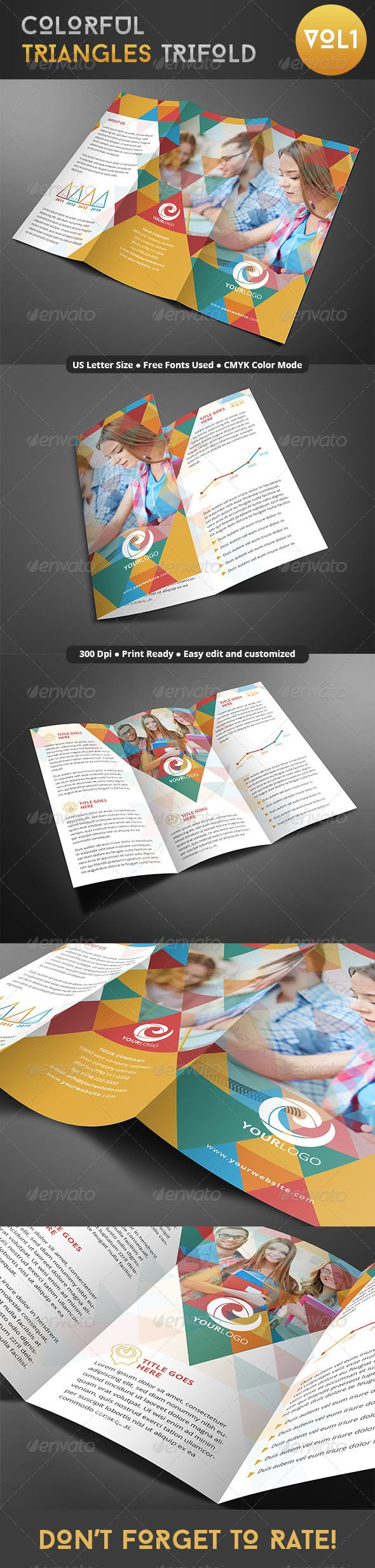 Colorful Triangles Trifold