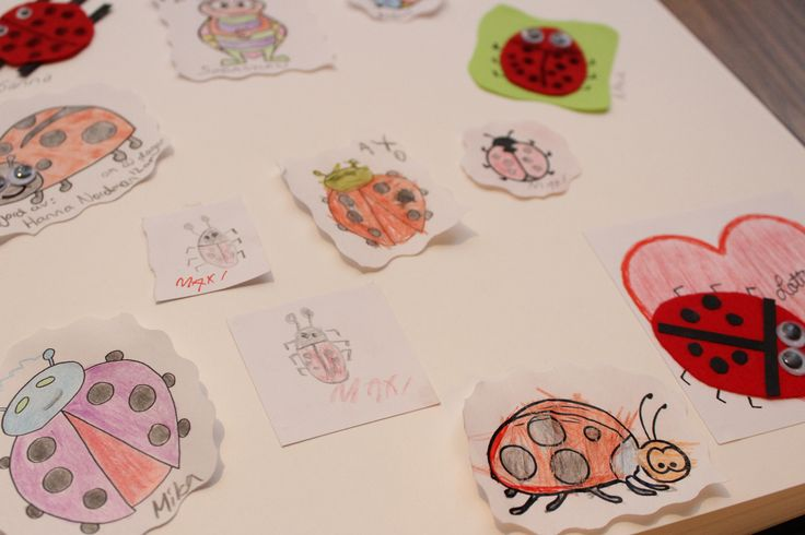 Ladybug party - not unusual guest book, decorate or make your own ladybug with greetings