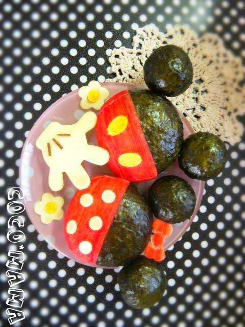 Mickey & Minnie onigiri ★