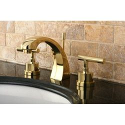 Concord Widespread Polished Brass Bathroom Faucet | Overstock.com Shopping - The Best Deals on Bathroom Faucets