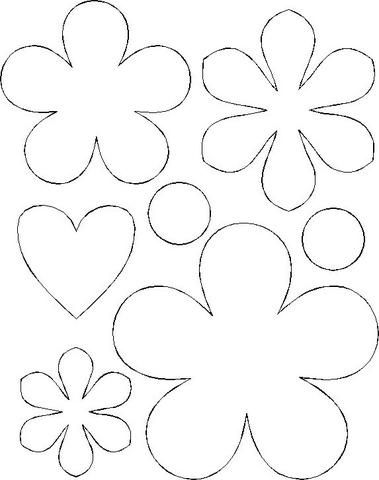 Flores Molde Onesie Template Felt Flowers Patterns Flower