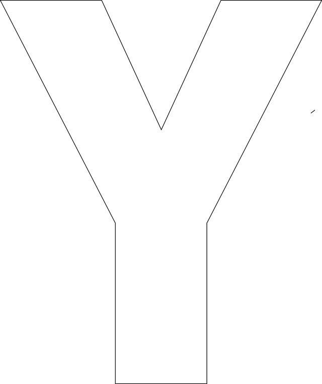 Free Printable Upper Case Alphabet Template: Y - Free Printable Upper Case…