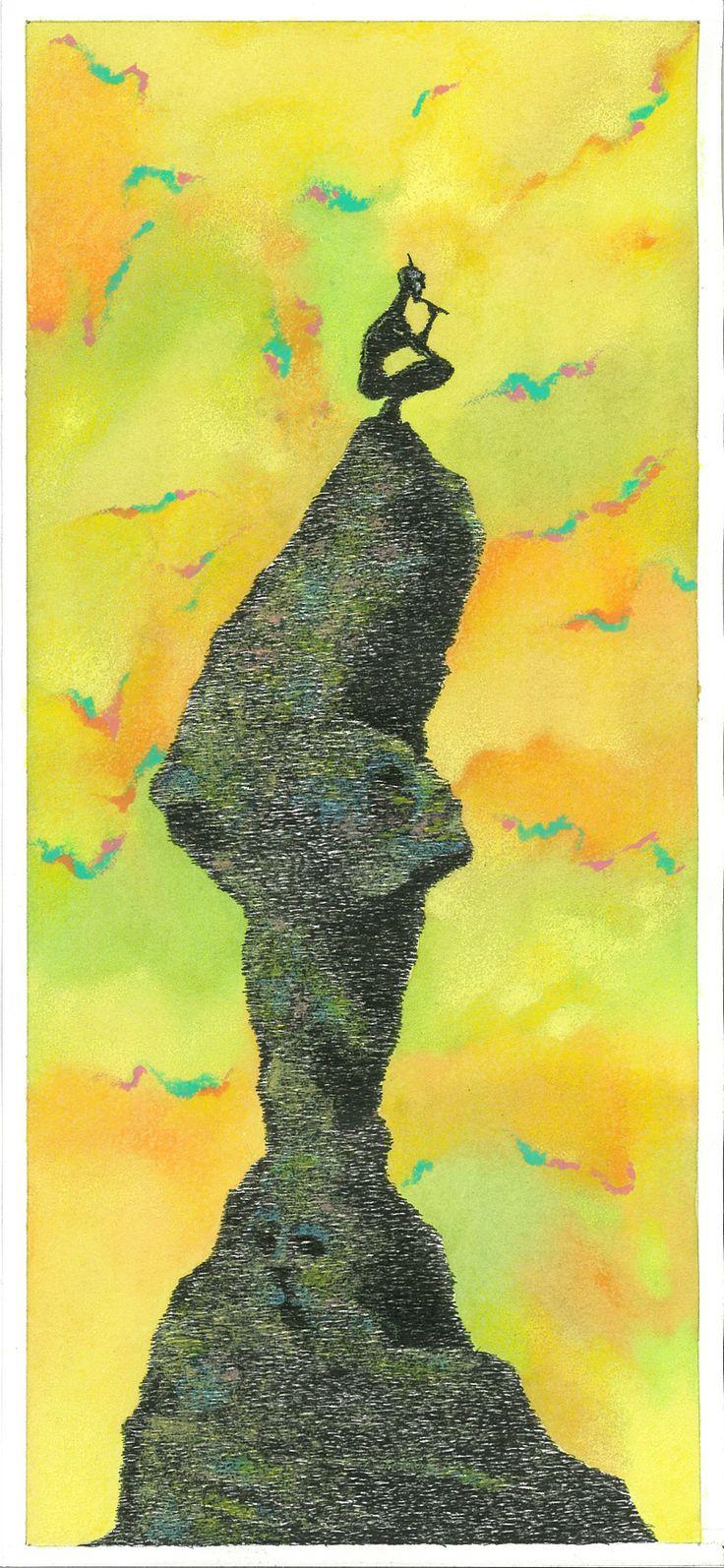 """L'Apres Midi d'un Faune"", 2013  1-Preludio alla conquista ideale di ninfe. China, acquerelli, pastelli a cera - Ink, watercolors, wax crayons."